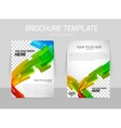 abstract line motion brochure vector image