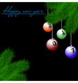 Billiard balls on Christmas tree branch vector image