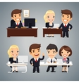 Businessmen at the Table Teamwork vector image