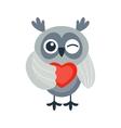 Cartoon owl isolated vector image