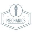 gear mechanic logo simple gray style vector image