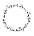 gray scale decorative crown floral vector image