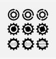 icons gear tuning mechanisms vector image