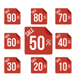 Sale percent sticker price tag flat design vector image