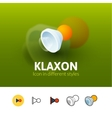 Klaxon icon in different style vector image