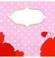etro background with poppies vector image vector image