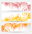 Set floral templates with changing autumnal colors vector image vector image