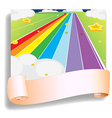 An empty template in front of the colorful road vector image vector image