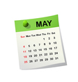 2014 calendar for May vector image