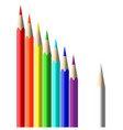 colour pencils stationery vector image