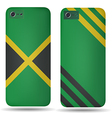 Rear covers smartphone with flags of Jamaica vector image vector image