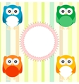 Cute owl card Vector Image