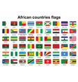 African countries flag buttons vector image