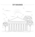 City buildings graphic templateAcropolis vector image