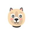 cute dog face funny cartoon animal character vector image