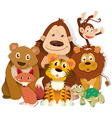 Different kind of wild animals vector image