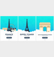 france time to travel set of travel posters vector image