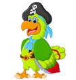 Fun parrot vector image