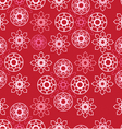 seamless pattern with pink ornamental circles vector image