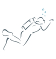 Swimming underwater vector image