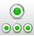 Time clock vector image