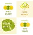 World Vegan Day vector image