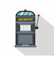 Slot machine icon flat style vector image