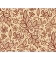Beige flowers seamless pattern vector image vector image