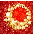 Christmas background with baubles EPS 10 vector image vector image