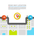 paved path on the road vector image