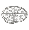 vintage pizza drawing hand drawn vector image