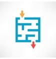 Blue maze vector image vector image