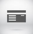 Flat ID Sign Document Badge Symbol Background vector image