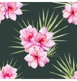 Watercolor tropical flral pattern vector image vector image