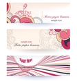 paper banners vector image vector image