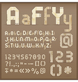 vintage letter font vector image vector image