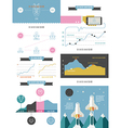 infographics set in the style of a hipster vector image vector image