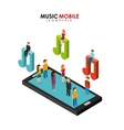 music mobile design vector image