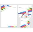 rainbow company identity template vector image vector image