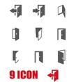 grey door icon set vector image