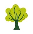 tree green flat icon vector image