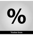 Percent icon vector image