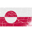 Flag of Greenland with old texture vector image