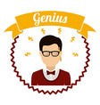 genius design vector image
