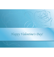 light blue card with rose vector image