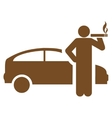 Smoking taxi driver icon from Business Bicolor Set vector image