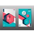 Template design layout brochure flyer vector image