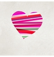 Retro heart made from color stripes EPS 8 vector image vector image