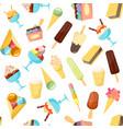 cartoon ice cream background pattern vector image