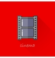 vintage of a film strip in flat style with long vector image